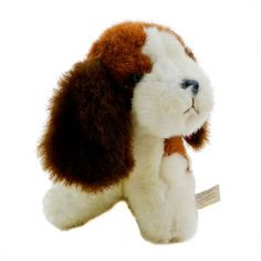 Please adopt me, I am a friendly Springer Spaniel.    This little fellow has no date on his tag, Made in Korea for the American Society for the Prevention of Cruelty to Animals. The Tag does show some wear.    Please remember I am for ages 3 and older.