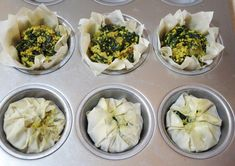 Tofu Breakfast Baskets (tofu scramble baked inside phyllo dough cups)