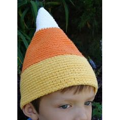 Candy Corn Crochet #Hat #Pattern @taraduffstuff.blogspot #candy #corn #halloween