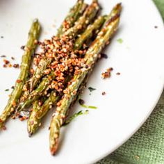 Vegan Green Bean Fries with Hemp Seeds {Gluten-Free}
