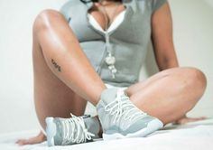 """AIR JORDAN XI """"COOL GREY"""" - Show your love for sneakers & Chicks on Kicks by sending a photo from yourself with your kicks to justask@chicksonkicks.com or to our Facebook page!"""