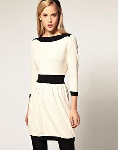 ASOS Knitted Dress With Boat Neck - StyleSays