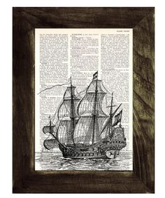 Old ship print Dictionary