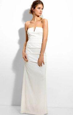 ivory wedding dresses   Nicole Miller Ivory Strapless Wedding Dress   Hairstyles for Weddings