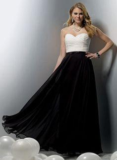 Jordan Chiffon Couture Chiffon Long Two Tone Bridesmaid Dress 1113 with Full Skirt at frenchnovelty.com