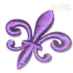 3-D Puffy Fleur-de-lis Embroidery Designs