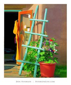 New Mexico ..... Old Town ....  Albuquerque .... Adobe ....  Kiva Ladder