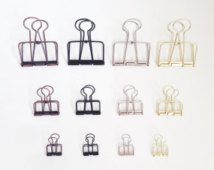 CLIPS SET - Stationery Clips, Paper Clips, Office Organizer,  Binder Clips, Office Stationary Clips, Decorative Clips