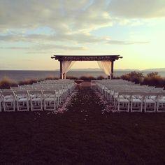 An empty post-wedding scene during sunset! #Terranea - @terrsquared- #webstagram