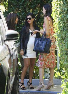 Kourtney Kardashian Photos: Kim and Kourtney Kardashian Attend a Baby Shower