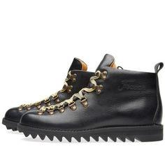 Fracap M120 Black Ripple Sole Scarponcino Boot (Black)