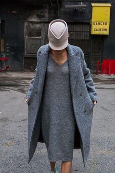 woolen dress & coat  (skip the hat!)