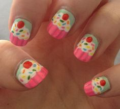 Colorful Print Nail Ideas precious on a child or wearing a country dress #paint #nails