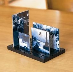 Customisable slotted City scape photo holder - Place it as you like