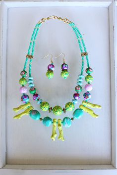 aaf1d1fbda125 35 Best Colorful Fun Statement Jewelry - Bossy Mossy Beads images in ...