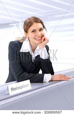 Photo Stock Images, Stock Photos, Office People, Cute Desk, Receptionist, Beauty Book, Photos For Sale, Model Release, Royalty Free Photos