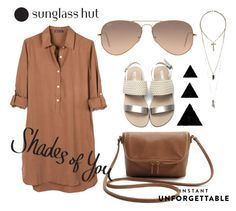 """Shades of You: Sunglass Hut Contest Entry"" by andra-cenan-glavan ❤ liked on Polyvore featuring United by Blue, Ray-Ban, Relic and shadesofyou"