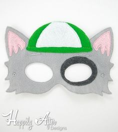 Cap Dog Mask ITH Embroidery Design