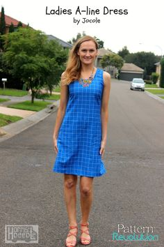A-Line Shift Dress by Jocole — Pattern Revolution