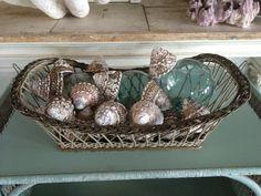 Basket Shells and glass balls