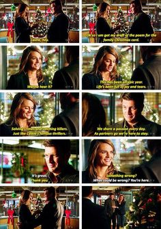 """Solving crimes and catching killers. Just like Castle's famous thrillers"" - Kate's poem #Castle"