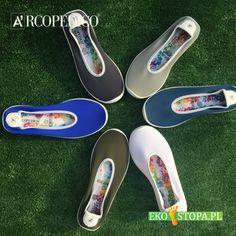 Bardzo lekkie baleriny w letnich kolorach z cholewką wykonaną z elastycznej tkaniny, która jest w stanie dopasować się ruchów stopy, jak i stopy z niedoskonałosciami. Vans Classic Slip On, Sneakers, Shoes, Fashion, Tennis, Moda, Slippers, Zapatos, Shoes Outlet