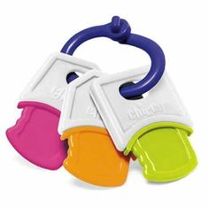 Chicco Soft Keys by Chicco. $2.99. Chicco Soft Keys  Chicco Soft Keys is a set of three keys made of soft and flexible plastic, ideal for teething babies. Kids can easily chew these keys and hold them in their little fingers thanks to an easy to grasp handle. These keys are gentle on kids' delicate mouth and gums. Grab your li'l one's attention with its soft rattling sound.  Why You'll Love It:  The soft texture of these plastic keys is perfect for growing teeth.  Age: 3 to 18 m...