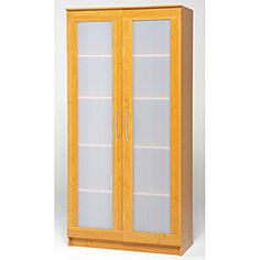 Storage cabinet-can re-stain and paint glass with chalk board paint
