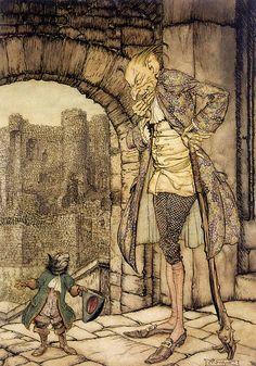 Puss in Boots - Arthur Rackham  From The Arthur Rackham Fairy Book: A Book of…