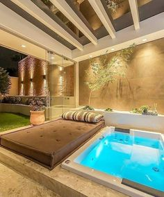 [New] The Best Home Decor (with Pictures) These are the 10 best home decor today. According to home decor experts, the 10 all-time best home decor. Hot Tub Backyard, Small Backyard Pools, Backyard Patio Designs, Indoor Swimming Pools, Swimming Pool Designs, Spa Interior, Jacuzzi Outdoor, Terrace Design, Modern House Design