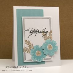 Happy Hydrangeas & Happiness In Bloom Inks: Stampin Up! Baja Breeze & Crumb Cake Impression Plate: Papertrey Ink