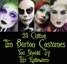 25 Chilling Tim Burton Costumes You Should Try This Halloween...i want to do Beetlejuice!