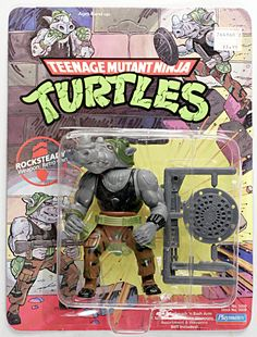 Playmates Toys TMNT Teenage Mutant Ninja Turtles Rocksteady hard head c-7 1988