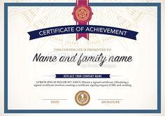Vector Art : certificate design template.