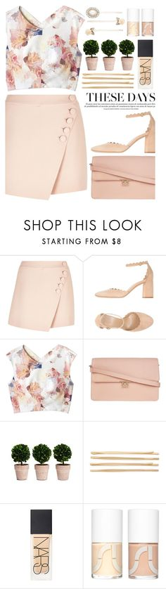 """""""Bastille - World Gone Mad"""" by annaclaraalvez ❤ liked on Polyvore featuring Chloé, Rebecca Taylor, Cara, NARS Cosmetics, Uslu Airlines and Forever New"""