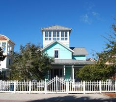 House of Turquoise: Turquoise Houses of Seaside, Florida Seaside Florida, Florida Travel, Florida Home, Different Architectural Styles, New Urbanism, House Of Turquoise, Exterior House Colors, Exterior Paint, Coastal Colors