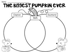 Venn Diagrams (Compare and Contrast} for Kindergarten and