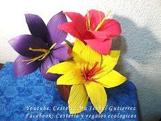 Cómo hacer flores con hojas de maiz o choclo | Manualidades