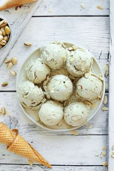 Pistachio and Almond Ice Cream - it read: vegan, rich and creamy, perfectly sweet, and so delicious - minimalistbaker