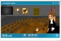 """""""La Constitución Española"""" (Aplicación interactiva de Ciencias Sociales) Interesting Blogs, Ideas Para, Basketball Court, Family Guy, Science, History, Sports, Dates, Seasons"""