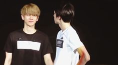 Lol It looks like Baekhyun just did something bad and Sehun is the parent that's just staring at him and is about to give a lecture any second now.