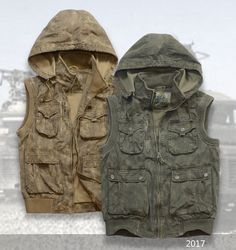 Vest Jacket hooded camouflage