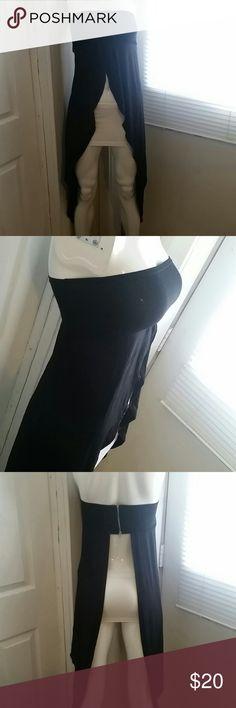 Draped tube top NWOT Very cute, long, and zippered back. Go Jane Tops