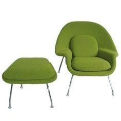 mid century modern green chair