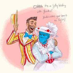 Because someone HAD to put it my head that if #Yondu is Mary Poppins, that must make #Kraglin his Bert. #someonestopme #onlykindasorry #guardiansofthegalaxy #marypoppins