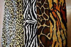 ANIMAL PRINT VELVET VELOUR FABRIC MATERIAL - SOLD BY MT  *FREE DELIVERY*