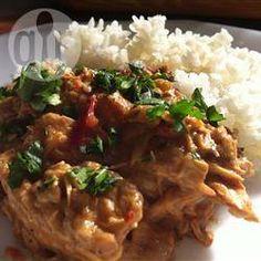 Foto recept: Thaise kip uit de slowcooker