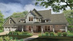 Home Plan HOMEPW76928 - 2414 Square Foot, 3 Bedroom 3 Bathroom + Farmhouse Home with 2 Garage Bays | Homeplans.com