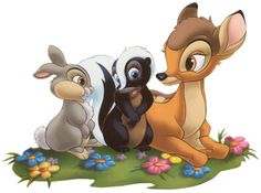 Bambi Clip Art and Disney Animated Gifs - Disney Graphic Characters Brought to You by Triplets And Us