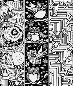 Free COLORING And DOODLING PRINTABLES Great Childrens Activities For Kids Who Love To Color Check Out These Bookmarks Lots More